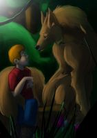 a boy and the wolf by brokencreation