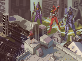 Evangelion commission by Infernomonster