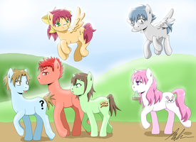 Idiots, tests and... ponies? by zombielover94