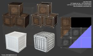 Low Poly Crate by MrNinjutsu