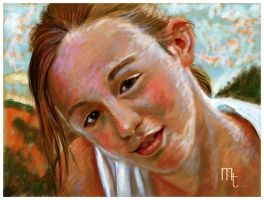 young girl impression by turkill