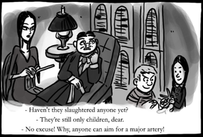The Addams Family by Chas Addams by theEyZmaster