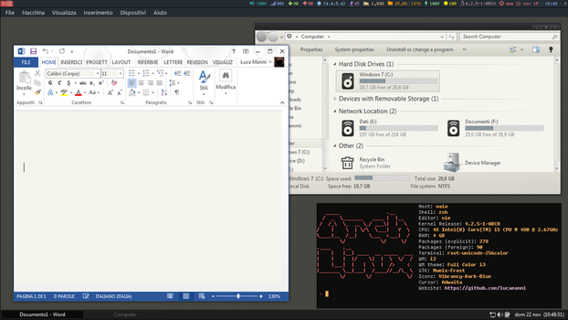 Running Windows 7 in Arch Linux by lucamanni88