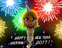 Happy New Year 2017! by Smudgeandfrank