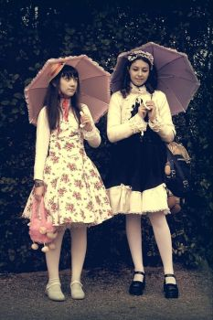 The cousinses Sweet Lolita by NocturneGothicLolita
