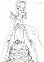 Giselle deluxe gown lineart by LadyAmber