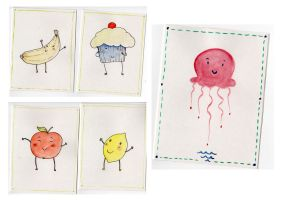 Cute fruit and Jelly cards by SendMeLetters