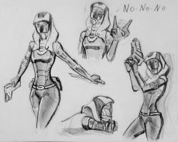 sketches Tali (124) by spaceMAXmarine
