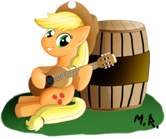 Applejack on Guitar by ShadowNinja976
