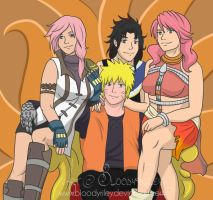 Nine Tailed King - Naruto, Lighting, Fang, Vanille by BloodyRiley