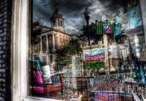 Courthouse In A Shop Window by soraxtm