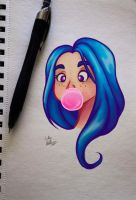 Bubblegum B by ReiReiArt