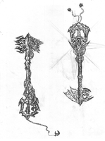 Heaven's Might and Hell's Demise Keyblade Design by JSyLuc123