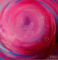 Pink Thoughts- abstract art by jonkania