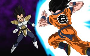 Goku Vs Vegeta V.1 by RuokDbz98
