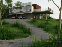 Rest House on a Hill Top by AnonymusDesignStudio