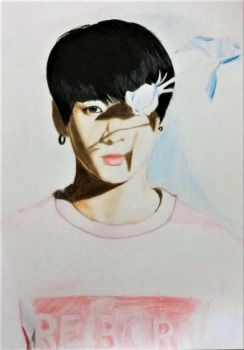 Flower Boy Jungkook (No Filters) by Anime-Wolf35