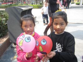 Two of my pretty students by Laura-in-china