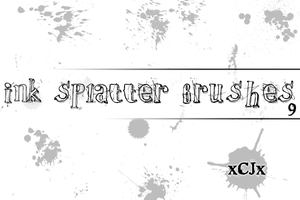 Splatter Brushes ps 7 by xCJx