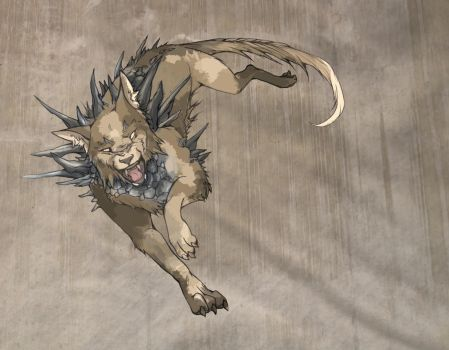 Blighted Dire Wolf by cursed-sight