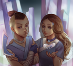 Sokka and Katara by Meramii