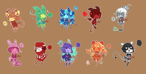 Sale Adoptables [ Colors] Time Change! by WoeAdopts
