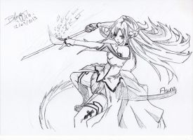 Asuna Star Splash Final Move by BlueT00ch