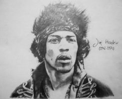 Jimi Hendrix by Finihous