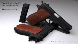 Smith and Wesson M39 Game Model by Laggyzaki