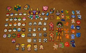 Nintendo Perler Collection (As of now.) by Pika-Robo