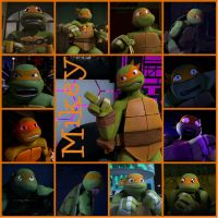 TMNT:: Mikey: Collage by Culinary-Alchemist