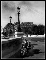 A vespa in Paris by Anonymous-Caribou