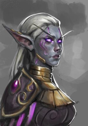 Sketch #266 Nightborne Fanart by Olieart