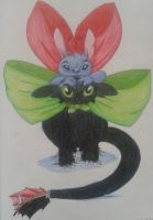 Stich and Toothless by demotikona