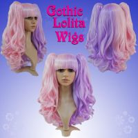 Split Pink and Lavender Wig by GothicLolitaWigs
