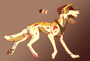 Fall pup adoptable (open) by Water-dopts