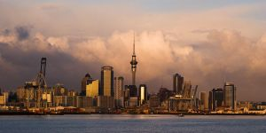 Sunrise III: Auckland Skyline by meemo