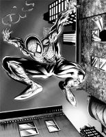 Spider-man black and white by shanepeters