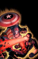 Captain America Vs. Cyclops by NimeshMorarji