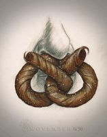 Movember Pretzel 6/30 by PeterFarmer