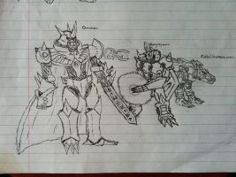 Omnimon DNA Digivolution Drawing by Omnimon1996