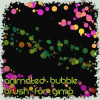 Animated Bubble brush for gimp by RAOqwerty