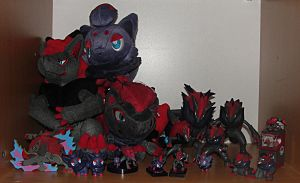 Current Zorua and Zoroark Collection by Ilona-the-Sinister