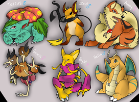 My FireRed Team by Chico-2013