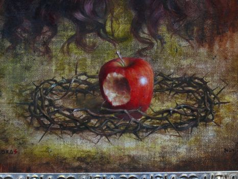 detail: Beneath apple by ForlornExistence