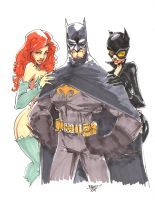 Commission - Batman n friends by rantz