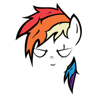 Rainbow Dash Front Profile Contour by QQwich