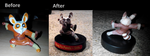 Repainted Shifu figure by DosadiVH
