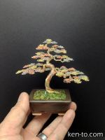 Tri-color Wire bonsai tree by Ken To by KenToArt