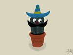 Carlos the Mexican cactus by Livia-Anna